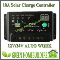 NEW  12V/24V auto 10A solar charge controller regulator