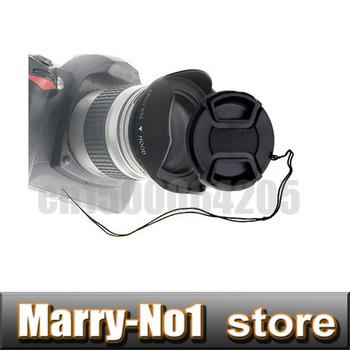 58mm Screw flower lens hood +  lens cap Snap-on Cap  for18-55mm Lens Free shipping  + tracking