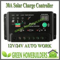 New 12V/24V auto 30A intelligence solar charge controller regulator