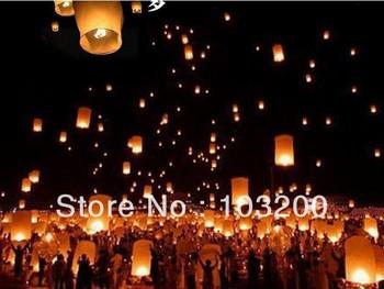 Free Shipping pure color Wishing lamp, heart shape Sky Lanterns,SKY CHINESE LANTERNS BIRTHDAY WEDDING PARTY,Lamp10pcs/lot