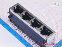 Wholesale (50Pcs/lot) 1x4 Ethernet Network RJ45 LAN Female PCB Socket Connector Jack