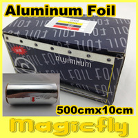 [XZL-026]500cm*10cm/Pcs Thick Aluminum Foil with Cutter for Nail Remover UV Gel Nail Wraps Especial For Soak Off UV Gel Remove