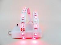 free shipping mini Potable 50cm 3528 SMD 4.5V 5V AA Battery Powered LED Strip Light