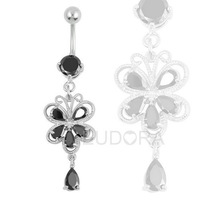 Free shipping Sexy 14G dermal piercings Navel belly button ring the Piercing Ring Wholesale body jewelry chain  FR334-3