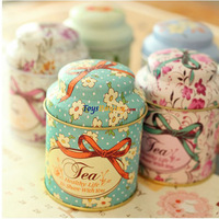 wholesale 200pcs/lot garden style tin box tea caddy tea canister 6 elegant design +Fedex/EMS Free Shipping