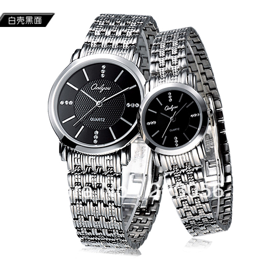 ultra-thin watches pure stainless steel quartz ladies watch(China (Mainland))