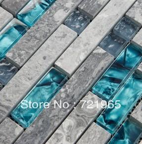 tile backsplash kitchen tile sgmt026 grey stone mosaic bathroom tiles