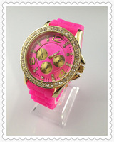 2013 latest HOT style  clock  wrist watch with diamond/Free shipping