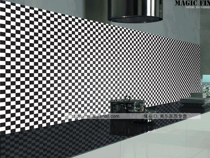 Zwart Wit Vinyl Keuken : Waterproof Self Adhesive Vinyl Wall Covering