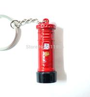 UK London keyring 2012 London Olympic souvenirs 2014 new key chains London red metal post box key ring free shipping !