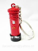 2012 London Olympic souvenir key chains UK key rings ,red metal post box  key ring,free shipping !
