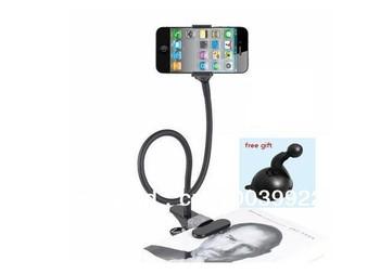 MOBILE Car Holder Desktop bed lazy bracket mobile Stand For iphone 4 5 ipad  Samsung LG HTC