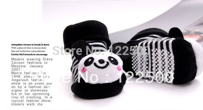 Lovely cartoon panda pattern Unisex baby socks Infants baby boy girl 3D shoes antislip Socks toddler Slipper Boots shoes(China (Mainland))