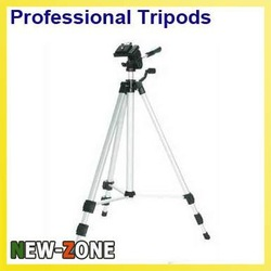 Free Shipping Professional Aluminum Tripod 1.35M Flexible plate +carrying bag High Quality for DSLR Camera ZY3420(China (Mainland))