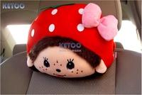 2pcs/lot Cartoon Car Seat Neck/Head Pillow,Auto Neck Pillow,Super Cute Lovely Pillow Soft Cushion Gift,Free Shipping