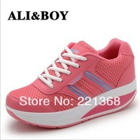 Free shipping 2013 new Hot summer slimming shook his shoes wedges A-869 sport shoes Thin shoes