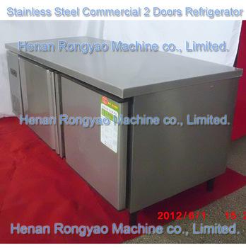 Commercial 2 Doors Refrigerator, Freezer,  Fridge work bench Stainless Steel