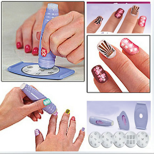 Salon Nail Art Express Decals Stamp Stamping Polish Design Kit Set Decoration[00040104](China (Mainland))