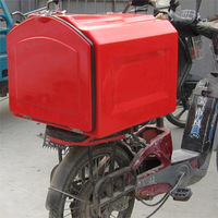 Pizza delivery fiberglass box for motorcycle, pizza delivery box for scooter, keep hot, keep warm, keep fresh