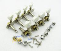 1set of Mandolin Tuning Pegs Machine Head Nickel Color M566