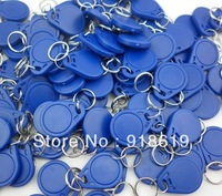 Blue  (50pcs/Lot)! Strong Plastic NTAG203 NFC Keyfobs 13.56MHZ ISO14443A 100% compatible with all nfc mobile phones