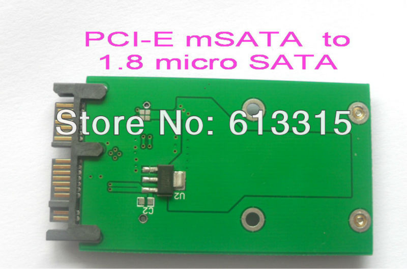 "10PCS/LOT Mini PCIe PCI-e mSATA 3x5cm SSD to 1.8"" Micro SATA Adapter converter card(China (Mainland))"