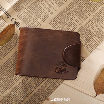 Free shipping , wholesale ,men's wallet, Brand name genuine Leather Wallet for men , Gent Leather purses hot fashion
