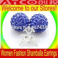 Wholesale Shambala Promotion Gift For Women Mixed Clay Disco Balls Colours Crystal Fashion Shamballa Earrings Studs