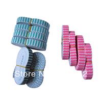 Good elasticity 100yards 10colors 5/8 Chevron printed fold over elastic for make hair tie  headband  DIY FREE SHIPPING