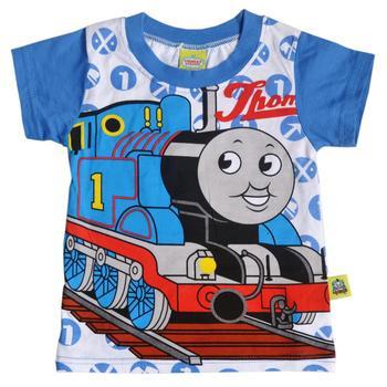 2013 Fashion  railway engine children's T Shirt 5set/lot 100% cotton High quality cartoon pattern t-shirt, TS0031D Free shipping