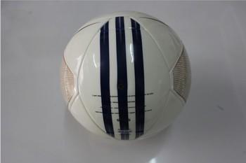 Free shipping white machine-sewn soccer