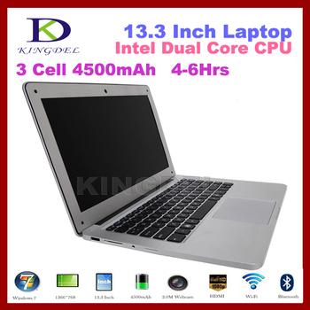 13 inch laptop computer 2GB RAM 32GB SSD+320GB HDD,ultrabook laptop Intel Dual Core,1366*768 Bluetooth WiFi Notebook Webcam