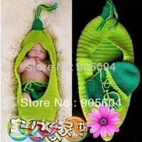 Cute Baby Infant Pea Sleeping Bag Shorts Costume Photo Photography Prop Newborn