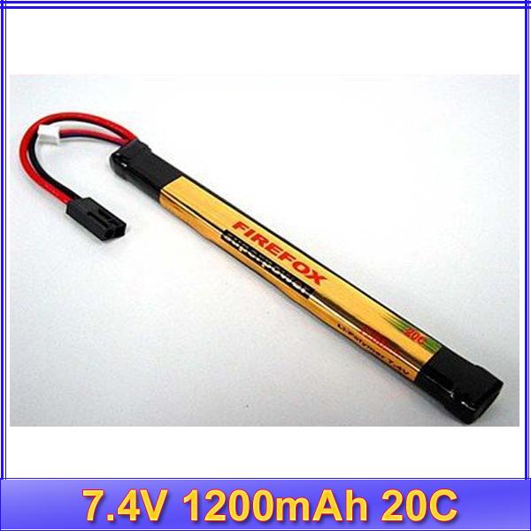 HK register free shipping~~100% Orginal FireFox 7.4V 1200mAh 20C Li Po AEG Battery G5K AK 170mm x 17mm(China (Mainland))