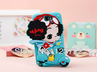 free shipping  3D Motor bike cute lovely cartoon Girl  silicon mobile cellphone case shell for samsung i9220 n7100