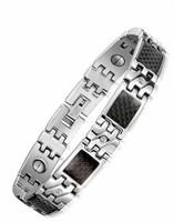 Health Men's Friendship Bracelets Magnet Stainless Steel Jewelry Accessories Pave Bracelet Energy Bangles Pulseira Bracciale