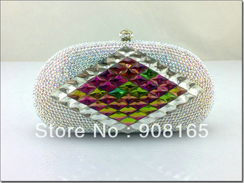 bag 2013,new white clutch crystal,women fashion purse women.free shipping