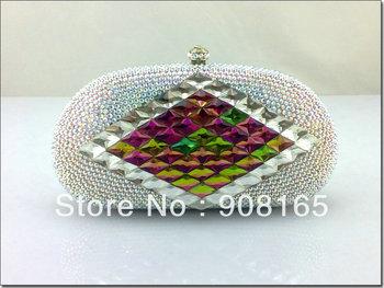bag 2013,new white clutch crystal,women fashion purse women.free shipping