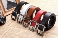 Free Drop Shipping +Best Quality First Class Leather Belt Mens Genuine Leather Belt Man Luxury Belts Alloy Buckle