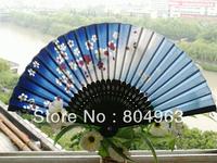 [China Confucian Arts]10pcs/lot 2013 newest  folding hand fan/Satin+better bamboo frame/L21cm*30ribs /top quality on hot sale