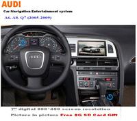 WITSON car dvd for AUDI Q7 A6 A8 (2008-2011) Original screen kept+Free Shipping+Free Map(Navitel Russia, IGO Primo Europe)