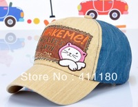 Free shiping ! Fashion junior cotton embroidery baseball hat 1 pc/lot