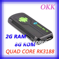 Bluetooth RK3188 Quad Core Android 4.2 TV BOX mini pc Cortex A9 2GB RAM 8GB ROM ug007 IIB DLNA 1080P XBMC TV dongle UG007B