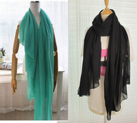 NEW hot 2013 Fashion Style Scarves Autumn and Spring Warm Solid Color All-match Pleated Muslim Hijab Female/Women Scarf 180*100