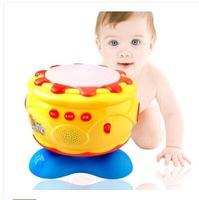 Wholesale Retail Baby Kids'Musical Luminous Pat Drums Toys 3C Yellow 0-3 years Children Electric Educational Slewing Hand Drum