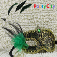 [Party City] Free shipping 100% Handmade luxury prince masquerade masks carnival mask halloween mask, 2pcs per lot