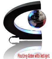 C shape Decoration Magnetic Levitation Floating Globe World Map LED Light Christmas Gift Xmas Decoration Santa Decor Home cgh