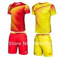 New 2012 Li-Ning Badminton men's 2012- the Chinese national badminton team shirt+shorts