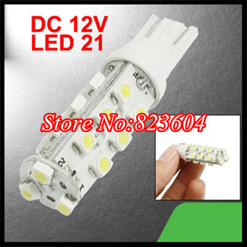 Small Order 10pcs T10 W5W 21 SMD 3528 LED 192 194 168 License Plate Lights HID Xenon White