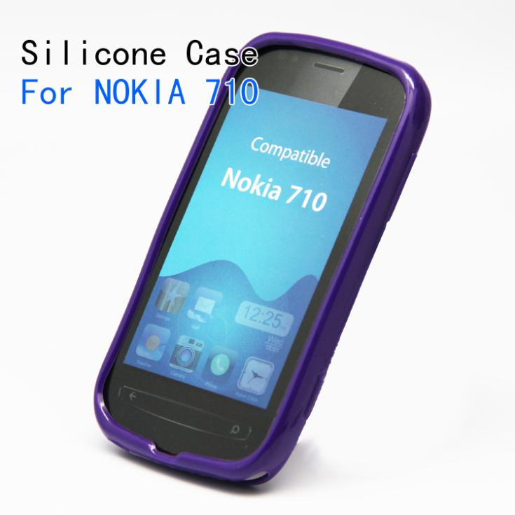 Silicone mobile phone case for NOKIA 710,Soft case for 710[Free Shipping](China (Mainland))